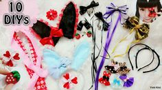 10 DIY Cute and Easy Hair Accessories for School, Cosplay, Gothic and Lo...