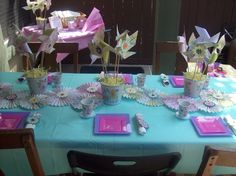 Pinwheel Table Decorations