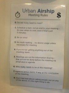Training Tilt Meeting Rules