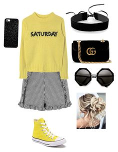 """""""First day of school"""" by maria-alexandra-iordan on Polyvore featuring Topshop, Simons, Converse and Gucci"""