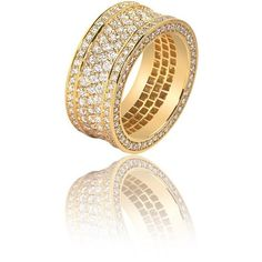 Massimo Ring (3-Row) ($6,500) ❤ liked on Polyvore featuring jewelry, rings, diamond jewellery, diamond eternity rings, polish jewelry, eternity rings and diamond jewelry