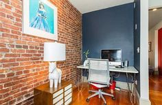 Boston Condo with Lofty Aspirations. Like the office nook!