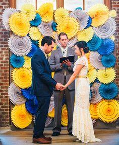 ♥Inspiração DIY Wedding: Azul   Amarelo