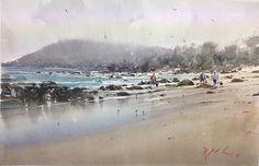Joseph Zbukvic, Beachcombers 52x34cm