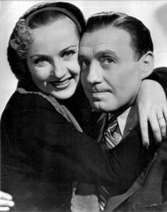 """Carole Lombard and Jack Benny in a film still for her last film, """"To Be Or Not To Be."""" (1942.)"""