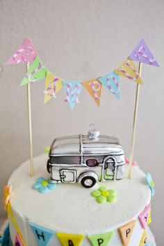 Glamping Camping girl themed birthday party via Kara's Party Ideas karaspartyideas.com