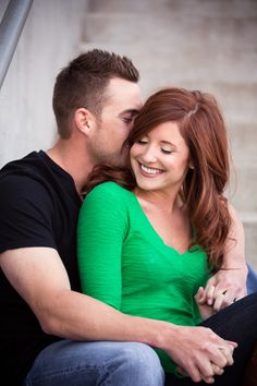 Such a sweet and romantic engagement pic | Josh Fisher Photography