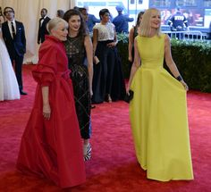 Vanessa Redgrave, Daisy Bevan, and Joely Richardson attend the Costume Institute Gala for the