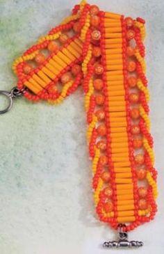Twist Bracelet  PDF from www.larkcrafts.com/     #seed #bead #jewellery