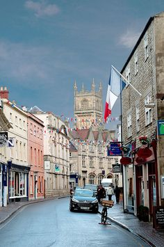 Castle Street, Cirencester, Gloucestershire, England, UK