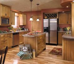 StarMark Cabinetry Bridgeport Door Style In Cherry Finished In Rattan.