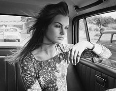 Portrait of English model and actor Jean Shrimpton, England, United Kingdom, 1966, photograph by Stan Meagher.