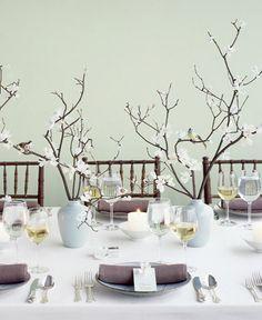 Decoración de bodas con ramas naturales - Para Más Información Ingresa en: http://centrosdemesaparaboda.com/decoracion-de-bodas-con-ramas-naturales/