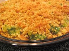 Broccoli and Velveeta Casserole from Food.com: A friend gave me this recipe when I was looking for a vegetable dish to make with ham. My husband filled his plate three times during dinner and it is very hard for me to get him to eat his veggies! Everyone has loved making this dish because it is so easy and everyone goes back for seconds and thirds!
