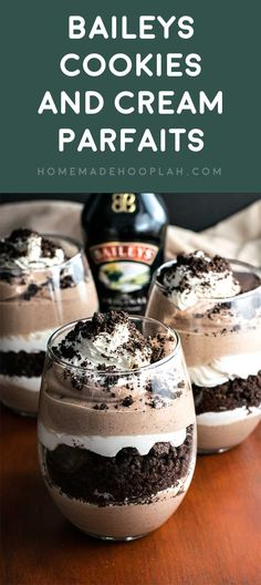 10 Best Baileys Dessert Recipes Are you looking for some delicious St. Check out the 10 Best Baileys Dessert Recipes for the holiday or any day! Baileys Dessert, Dessert Oreo, Bon Dessert, Baileys Cheesecake, Baileys Drinks, Dessert Mousse, Appetizer Dessert, Dessert Drinks, Baileys Alcohol