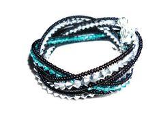BraceletTurquoise braceletHandmade wristbandswaroski by fancywomen, $25.00