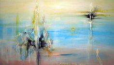 in the near future tisk. 100x70cm z mého originálu abstraktní malba oblíbená na web