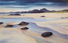 Kiloran Bay, Colonsay by Manus McGinty - Paint a seascape or harbour scene to win copies of David Bellamy books from Search Press Painting Competition, Seascape Paintings, Watercolor Landscape, Holland, Greece, Scene, Urban, Gallery, Artist