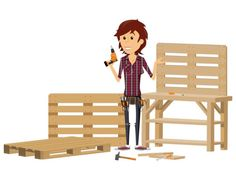 Create Simple Pallet Wood Projects To Enhance Your Home's Interior Decor