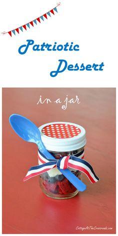Patriotic Dessert in a Jar