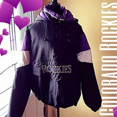 """Go ROCKIES! """"Starter"""" warm hoodie coat Baseball time is near and it gets cold in the spring.  Super warm all year round starter coat. Heavy duty zippers and made to keep out the cold while being comfortable enough to do sports. High quality Starter Athletic wear was established in 1971, Starter pioneered the fusion of sports clothing with popular culture by forging partnerships with the major pro basketball, football, baseball, hockey and college leagues. Starter Jackets & Coats Puffers"""