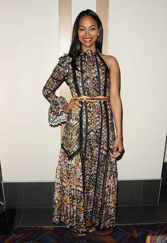 Zoe Saldana en robe Louis Vuitton folk