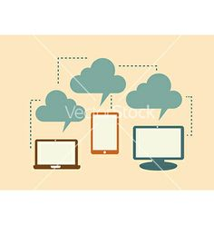 Computer communication by Giuseppe_R on VectorStock®