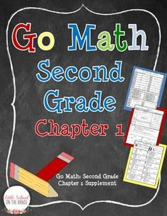 This is a great supplement to Go Math Chapter 1 for Second Grade! This unit is a great reinforcement for key concepts of place value.
