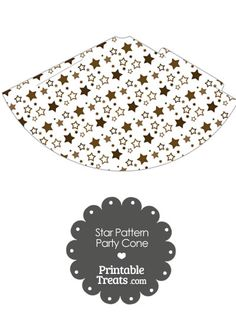 Brown Star Pattern Party Cone from PrintableTreats.com
