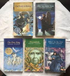 Full Set of 5 The Dark is Rising Sequence Books in Box | Fantasy | Box Set | Good vs Evil |Free Priority Shipping in the US