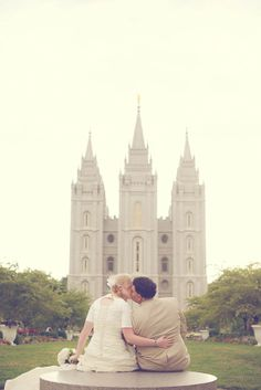 Salt Lake LDS Temple, Together Forever ~Katie Dudley Photography