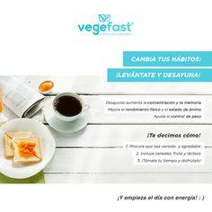 Cambia tus hábitos... ¡Levántate y desayuna!  Descubre todos nuestros productos aquí: http://j.mp/vegefast ¡ESTE MES CON UN 20% DE DESCUENTO! CODIGO: 20REBAJASVF