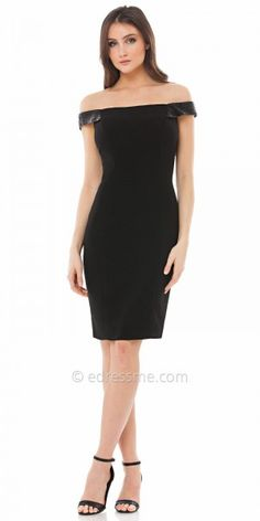Cris Cross Jersey Sheath Cocktail Dress By Carmen Marc Valvo ...
