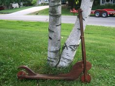 Old wood Scooter.