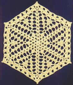 This is a doily that could be made into a great afghan if done in a lightweight yarn.