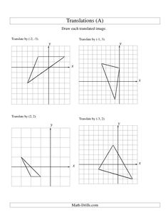 math worksheet : 1000 images about transformation  translation réflexion etc  : Translation Worksheet Math