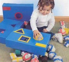 brinquedos com caixa de sapato