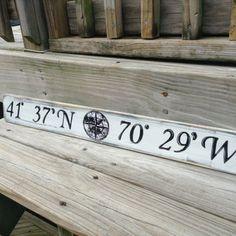Beach Nautical Sign Custom L... from justbeachyshop on Wanelo