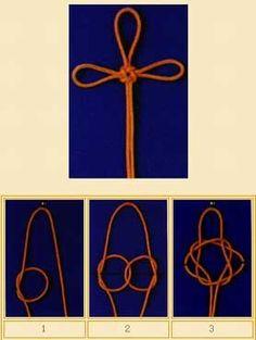 Sauvastika Knot (The Virtue Knot or Wangzi Knot) - Chinese knotting tutorial
