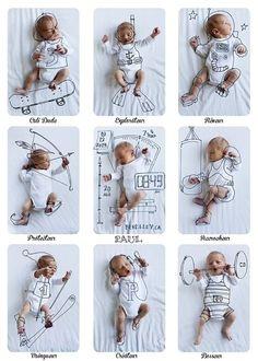 0 ideias de fotos para registrar o crescimento do seu bebê
