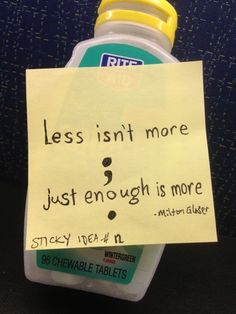 Sticky idea 12: less isn't more  #design #inspiration #MiltonGlaser #quote