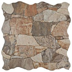 Bring a rustic and outstanding look to your home by choosing this Merola Tile Attica Gris Ceramic Floor and Wall Tile Sample. Stone Mosaic Tile, Mosaic Wall, Mosaic Glass, Wall Tiles, Pebble Tiles, Marble Mosaic, Stained Glass, Wood Look Tile, Stone Look Tile