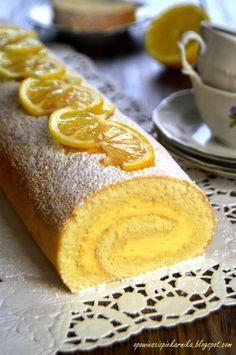 Rolada cytrynowa Polish Desserts, Polish Recipes, Baking Recipes, Cake Recipes, Dessert Recipes, Holiday Desserts, No Bake Desserts, My Favorite Food, Favorite Recipes