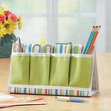 Canvas Desk Organizer #HouseholdOrganization #OrganizationIdeas