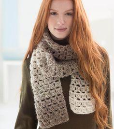 One Skein Openwork Scarf: free crochet pattern