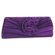 New Trending Clutch Bags: Damara Womens Satin Pleated Flower Front Evening Bag Clutch Handbag,Purple. Damara Women's Satin Pleated Flower Front Evening Bag Clutch Handbag,Purple  Special Offer: $15.59  200 Reviews Perfectly pleated satin fabric gives this chic large clutch the look of a beautiful flower front detail.The fashion clutch with pleated design and features a smooth...