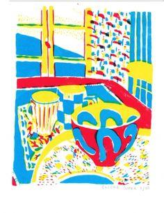 Gravures & Estampes | Encore Super | A table I | Tirage d'art en série limitée sur L'oeil ouvert Street Art, Art Graphique, A Table, Kids Rugs, Artwork, Home Decor, Contemporary Photography, Old Photography, Etchings