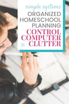 Organizing Homeschool Resources - a simple system to control computer curricula clutter