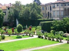The gardens of Palazzo Pfanner, in Lucca, Tuscany as seen from the top of the city walls. This beautiful old palace has been the setting for several films including Jane Campions 'Portrait of a Lady' with Nicole Kidman.