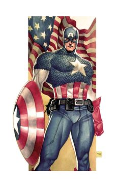 Captain America Commission by taguiar.deviantart.com on @deviantART #CaptainAmerica #Superheroes